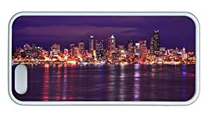 Hipster shop iphone 5 cover seattle night skyline 1 TPU White for Apple iPhone 5/5S by mcsharks