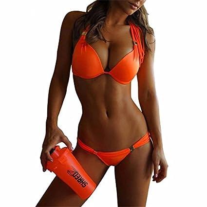 cc01198d2b Amazon.com : Push Up Brazilian Bikini Set Hot Top Neon Bathing Suits  Swimsuit biquini Swimwear Women Swimwear : Everything Else