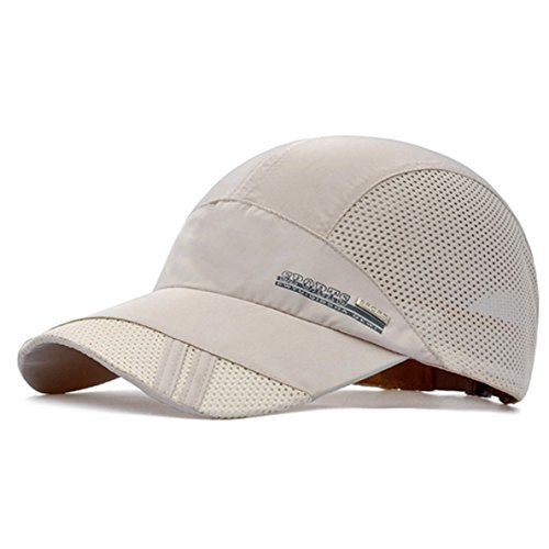 GADIEMENSS Quick Dry Sports Hat Lightweight Breathable Soft Outdoor Running Cap (Classic series, Beige) (Classic Cap Lightweight)