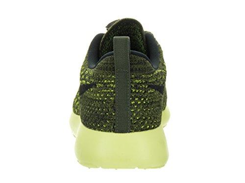 Nike Womens Roshe One Flyknit Scarpa Da Running Verde / Volt