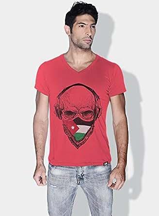 كريو Jordan Skull T-Shirts For Men - M, Pink