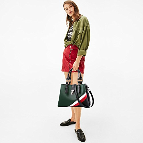 NICOLE donna multiscomparto Nero Borsa Verde alla DORIS borsa per per moda a la amp; tracolla Scuro rOv7wqr