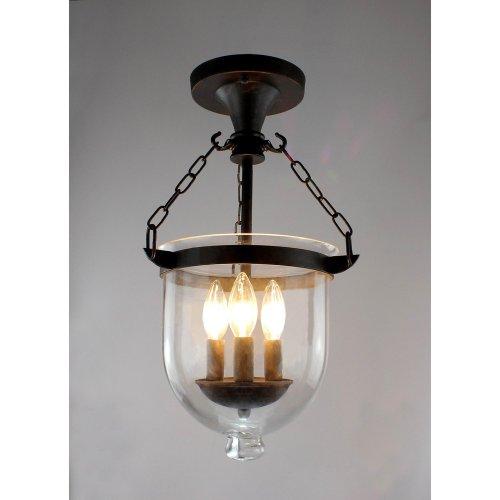 Arabella Antique Copper Bell Jar Glass Lantern Chandelier from Jojospring