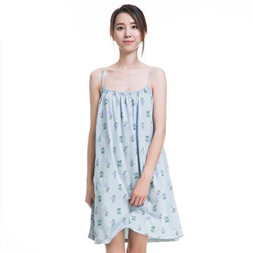 Falda De Noche/Versión Coreana,Fresca,En La Falda/100% Algodón,Cordón,Suelto,Pijama L