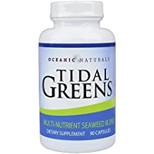 Tidal Greens Natural Seaweed Supplement: Helps THYROID SUPPORT, Boost energy level, and Strengthen immune system. All Natural Multi-Nutrient Seaweed Blend. 90 Vegetarian Capsules … (1)