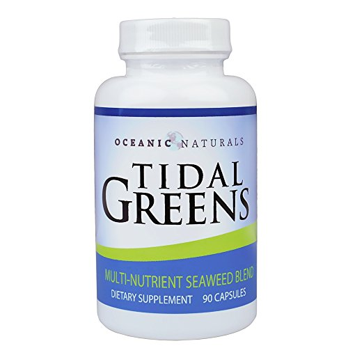 Tidal Greens Natural Seaweed Supplement: Helps Thyroid Support, Boost Energy Level, and Strengthen Immune System. All Natural Multi-Nutrient Seaweed Blend. 90 Vegetarian Capsules ... (1)
