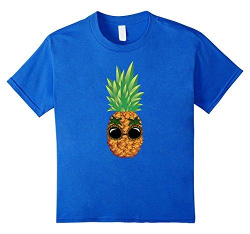 Kids Pineapple Sunglasses Aloha Beaches Hawaii - Hawaiian T-shirt 8 Royal - Aloha Friday Sunglasses