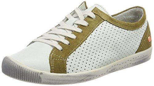 Ica388sof Weiß Mustard Softinos Baskets Suede White Smooth Femme Hqdfqn