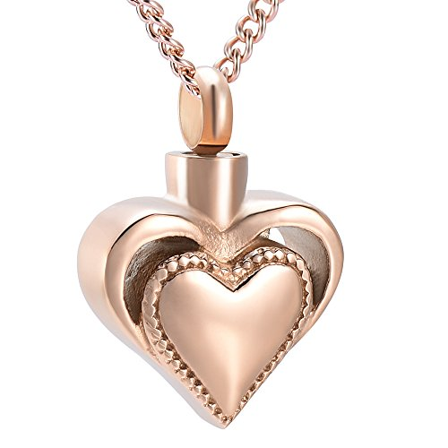 Engravable Heart - DIYjewelry Inc Memorial Jewelry Engravable Heart Cremation Ashes Necklace Urn Pendant Keepsake (Blank)