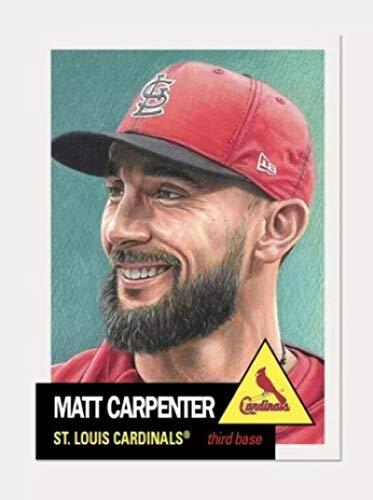 (2019 Topps The Living Set Baseball #168 Matt Carpenter St. Louis Cardinals ONLINE EXCLUSIVE MLB Trading Card (A Continuation Set Begun in 2018))