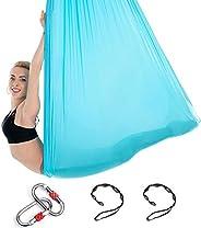 5m Long, 3m Wide, Yoga Hammock Flying Hammock Swing Aerial Yoga Hammock Silk Fabric with Carabiner & Daisy