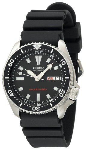 Seiko-Mens-SKX173-Stainless-Steel-and-Black-Polyurethane-Automatic-Dive-Watch