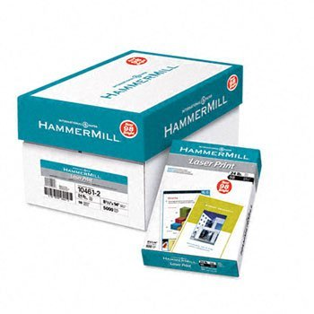 Hammermill® Laser Print Office Paper PAPER,LASERP,LGLWHT,24# (Pack of8) by Hammer