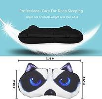 Antifaz gracioso para dormir, divertido, de gato o perro, antifaz con dibujo, suave, acolchado, antifaz para dormir a ciegas para hombre y mujer: Amazon.es: Salud y cuidado personal
