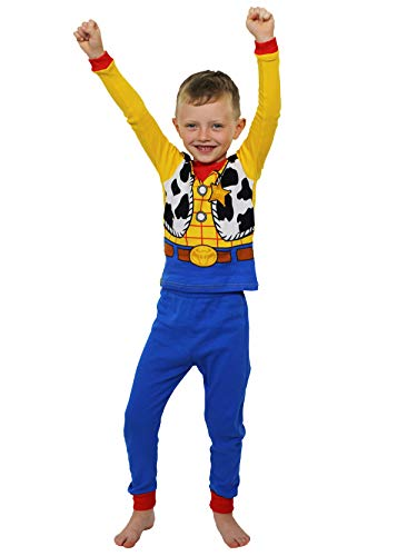 Disney Toy Story Woody Toddler Boys Costume Style Pajamas Set (2T, Blue/Multi) -