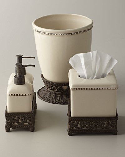 GG Collection Soap and Lotion Pump Set with Metal Base -