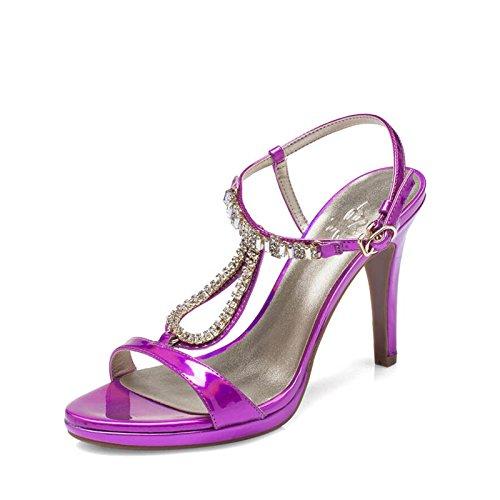 Le L'Eau Fendue De Dew Female SHOESHAOGE Avec Percer Ultra Sandales EU39 Pour Haute Sandales wzTTXYxa