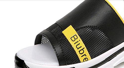 chaussons sandales sauvages et fashion 35 version des sandales ladies plates B sandales B pantoufles Sandales mode Couleur de nbsp; des coréenne wear d'été FAFZ avec Slipper des taille UCWq8FBP