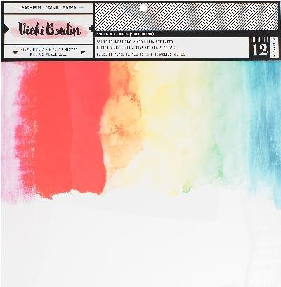 American Crafts Smooth White, 140lb Vicki Boutin Mixed Media Foundations Paper by American Crafts