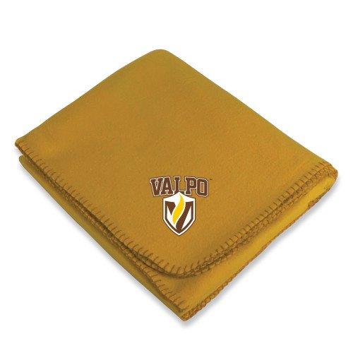 CollegeFanGear Valparaiso Gold Arctic Fleece Blanket 'Stacked Valpo Shield' ()