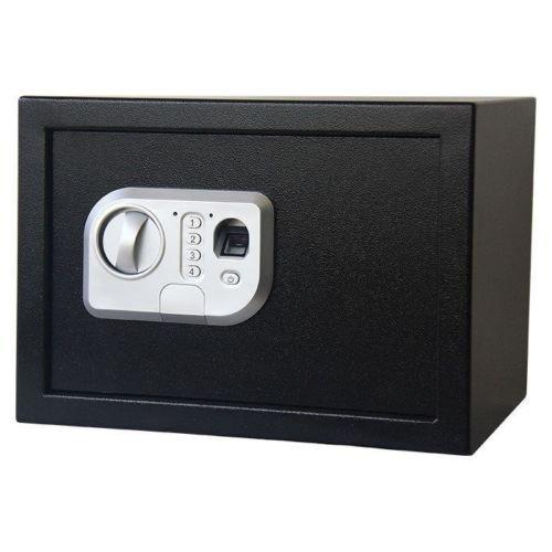 Fingerprint Safe Box, Electronic Digital Combination Keypad Lock Home Office Hotel Hide Cash Gun Valuables, 0.76 Cubic (Fingerprint Safe Box)