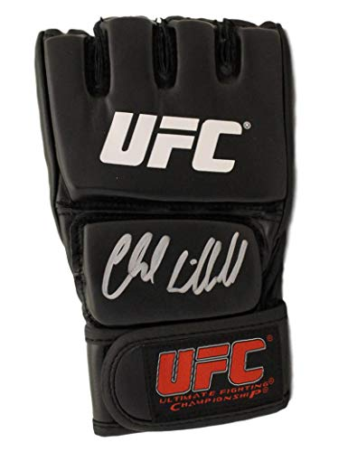 Chuck Liddell Autographed/Signed UFC Black Right Handed Glove BAS