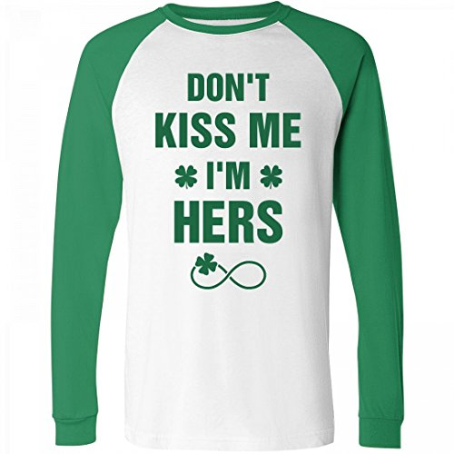 Sexy St Patricks Day Outfit (Couples St Patricks Day Shirts 1: Unisex Canvas Raglan Long Sleeve Tee)
