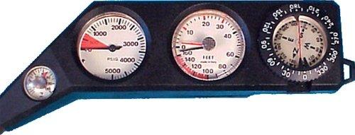 4ゲージコンボコンソールメトリックコンパス、奥行、圧力、Temp B00KAI8Z6I