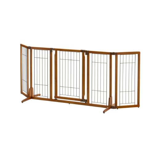 Richell Wide Premium Plus Freestanding Pet Gate with Door - Richell Gates