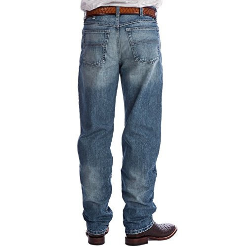 Cinch Apparel Mens Black Label 2 0 Medium Stonewash Jeans 35W x 38L Indigo (Mens Cinch)