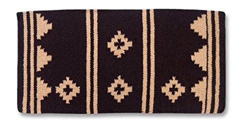 Mayatex Apache Saddle Blanket, Black/Fawn, 36 x 34-Inch