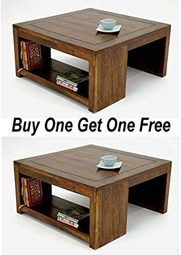 Sheesham Wood Center Table Coffee Table Buy One Get One Free Coffee Table Amazon In Electronics