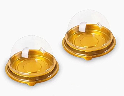 Mini Cake Boxes (100 Pack 2 inch of Clear plastic mini cake box muffins box cookies cookies muffins dome box wedding birthday gift box)