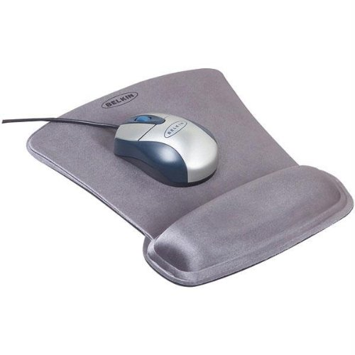 (SILVER WAVE REST GEL FILLED CUSHION MOUSE PAD W/ WRIST REST)