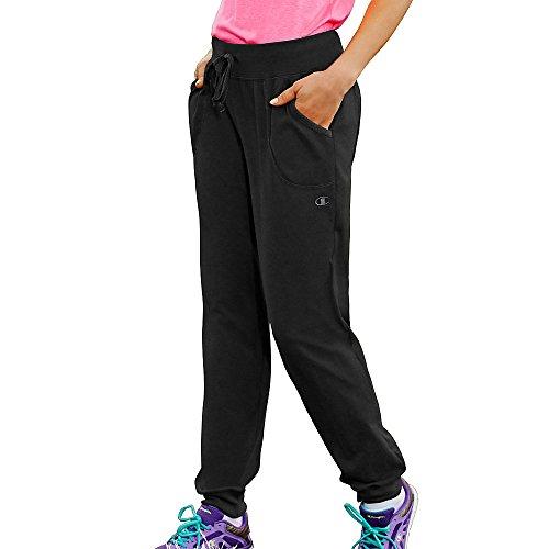 Champion Women's Jersey Pocket Pant, Black, X-Large