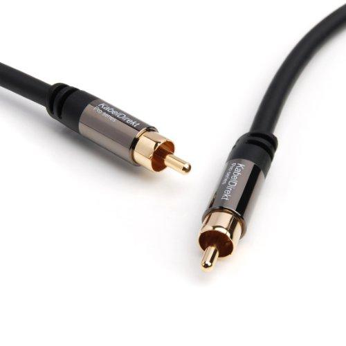 KabelDirekt 2m Digitales Koaxial- und Subwooferkabel (1 Cinch zu 1 Cinch) - PRO Series