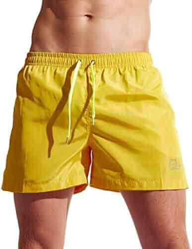 527ddc2b554 GREFER Men's Summer Shorts Swim Trunks Quick Dry Beach Surfing Running Pants