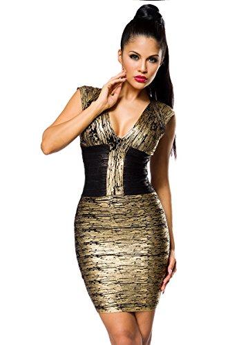 Kleid Bandage Schwarz Bandage Gold Shape Gold Shape Schwarz Kleid EqpwFW