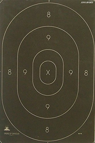 """B-27C Shooting Range Target Center Official Law Enforcement NRA Police Standard Silhouette 12 3/8"""" x 18 1/2"""" - 50 Pack"""