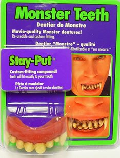Rubie's Costume Co. Men's Novelty Monster Teeth, As Shown, One Size