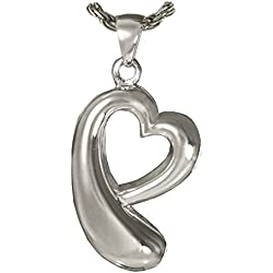 Memorial Gallery 936SS Heartfelt Tear of Love Sterling Silver Cremation Pet Jewelry