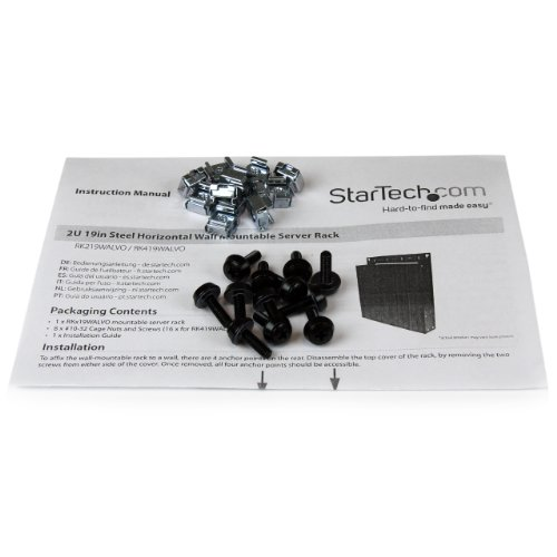 StarTech.com 4U 19-Inch Steel Horizontal Wall Mountable Server Rack RK419WALVO (Black) by StarTech (Image #6)