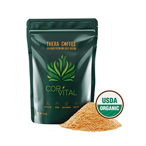 *The Real Deal* Cor-Vital 1 LB Organic Enema Coffee Best for Coffee Enema Colon Cleanse and Detox 100% Organic Green Coffee Beans Ground w/Free Detox Recipe - Gold Roast - Gerson Approved