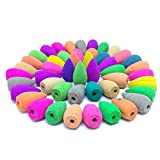 140 Pcs Backflow Incense Cones 7 Mixed Natural Scents- Lavender Lemon Osmanthus Lily Green Tea Rose Jasmine,Incense Cones Perfect for in Home Or Office Larger Image