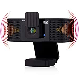 Flashandfocus.com 41WJ4GufqzL._SS300_ Webcam with Speakers 2021 – Web Camera with Microphone and Speaker –HD Webcam with Privacy Cover – Web Camera for Laptop…