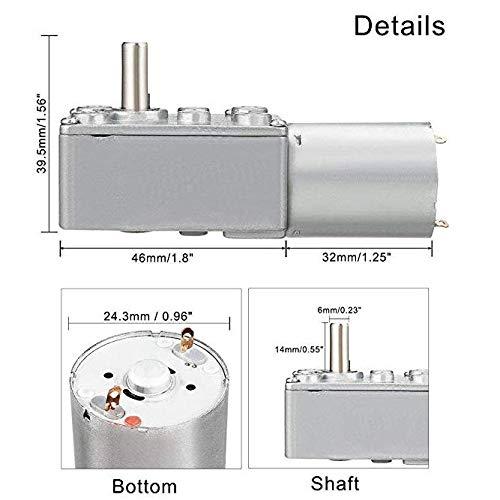 Apri Porta Motore Elettrico di riduzione DC 12 V 12 Volt con Ingranaggi per finestre 3 RPM AZSSMUK verricello miniaturizzato ad Alta Coppia