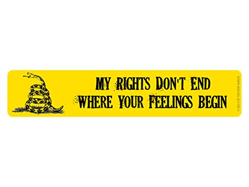 My rights don't end where your feelings begin (Bumper Sticker)