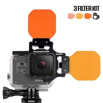 Backscatter Flip6 Three Filter Underwater Color-Correction Shallow, Dive & Deep Kit for GoPro