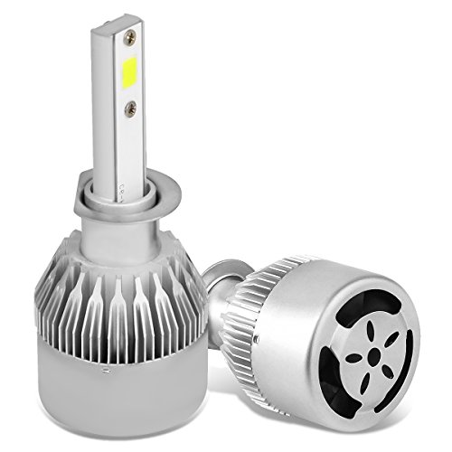 DNA Motoring HID-LED-LB-FAN-H1 Pair of LED Light Bulbs with Cooling Fan