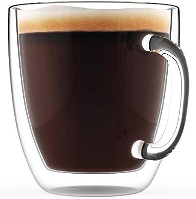 Taza de café grande con doble pared aislante, 470 ml – Jarra de ...